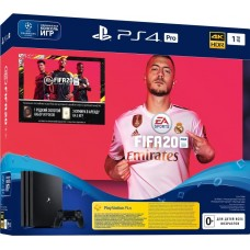 PlayStation 4 Pro Bundle (1 Tb, FIFA 20, черный), 284674, Консоли